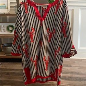 Crawfish lobster tunic or bathing suit cover